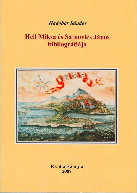 Hell Miksa és Sajnovics János - MEK - Országos Széchényi Könyvtár