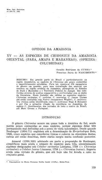Mem Inst Butantan 46 1982 CUNHA.pdf - Museu Paraense Emílio ...