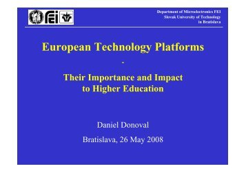 Participating in the EU Technology Platforms - Enterprise Europe ...