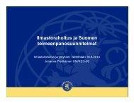 Ilmastorahoitus ja Suomen toimeenpanosuunnitelmat