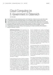 Cloud Computing im E-Government in Österreich