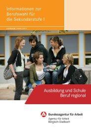 Ausbildung und Schule Beruf regional - planet-beruf regional ...