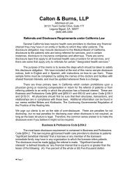 California Law Referral and Disclosure Requirements