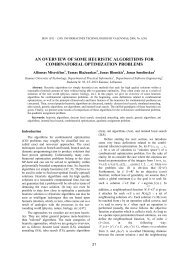 AN OVERVIEW OF SOME HEURISTIC ALGORITHMS FOR ...