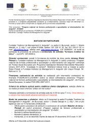 28.1 - invitatie de participare - Institutul de Management in Asigurari