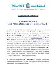 Communiqué de presse - Telnet