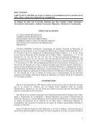 Circular Nº 001/2010 - Por la que se instruye el ... - Acnur