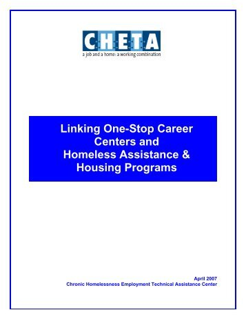 Linking One-Stop Career Centers and Homeless Assistance ...