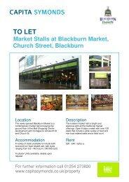 Blackburn Market Stalls - Capita Symonds