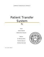 Patient Transfer System - Lawrence Technological University