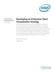 Developing an Enterprise Client Virtualization Strategy White ... - Intel