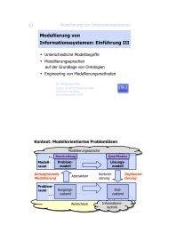 Modellierung von Informationssystemen - Universität Hamburg