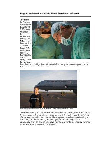 Read their blog here - Waikato District Health Board