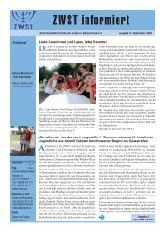 Ausgabe Nr. 3 - September 2008 - Zentralwohlfahrtsstelle der Juden ...