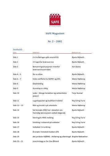 SAFE Magasinet Nr. 2 – 2002