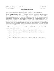EE32a Signals, Systems and Transforms October 29, 2001 R. J. ...