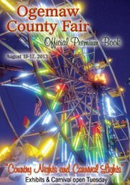 exhibitors entry form - Ogemaw County Fair