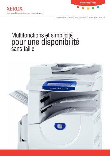 pour une disponibilité - Xerox