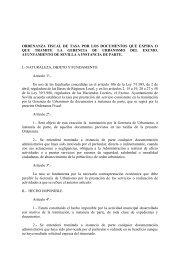 ORDENANZA FISCAL DE TASA POR LOS ... - Miliarium