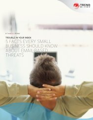 5 facts every Small Business should know about email ... - Trend Micro
