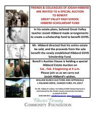 View the flyer - Chester County Community Foundation