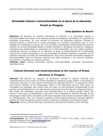 Diversidad cultural e interculturalidad en el marco de la ... - SciELO