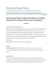 The Economic Impact of Marcellus Shale Gas Drilling - Green Choices