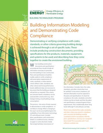 BIM Topic Brief - Building Energy Codes