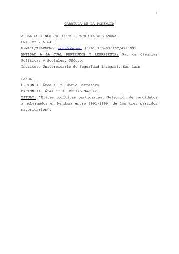 descargar documento .pdf - Sociedad Argentina de Análisis Político ...