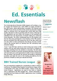Ed. Essentials - Ballarat Health Services