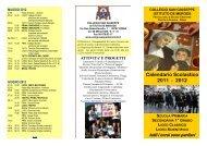 Calendario Scolastico 2011 - 2012 - Collegio San Giuseppe - Istituto ...