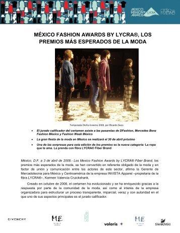 méxico fashion awards by lycra®, los premios más ... - LYCRA.com