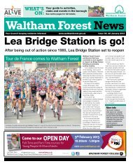 Issue 85: Lea Bridge Station is go! - Waltham Forest Council