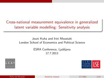 Sensitivity analysis - London School of Economics and Political ...