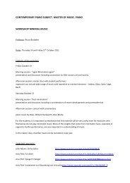 Download further programme information. - Codarts