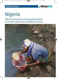 Local government financing in Nigeria - WaterAid