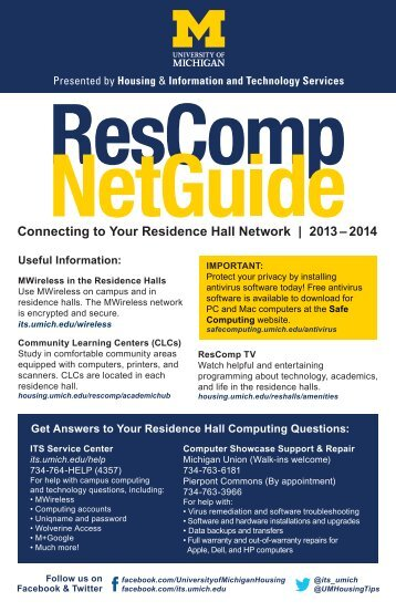 Net Guide - University Housing