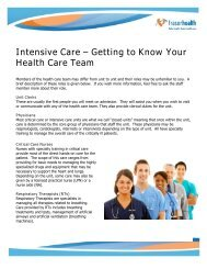 About the health care team - Fraser Health Authority