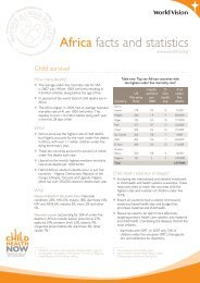 Africa facts and statistics - World Vision