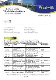 Gemeenteblad, Officiële bekendmakingen week 2 2012