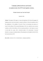 Campaigns, political preferences and turnout. An empirical study of ...