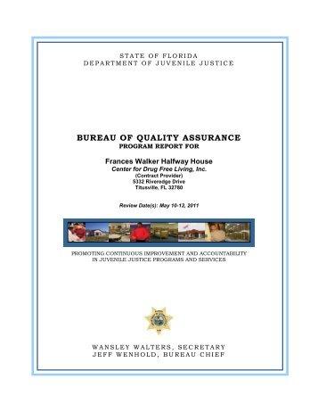 FY10-11 Report for Frances Walker Halfway House - Florida ...