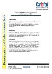 40229 Carlofon 3850 Korrosionsschutzwachs