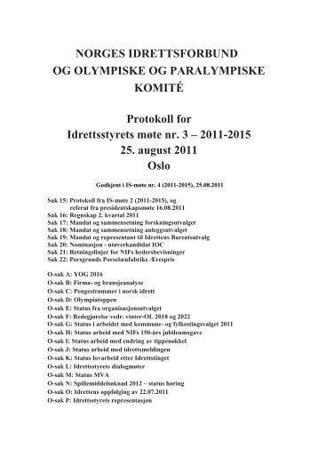 2011-2015 25. august 201 - Norges idrettsforbund