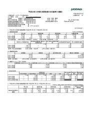 平成23年12月期 決算短信〔日本基準〕(連結) - コスモ・バイオ
