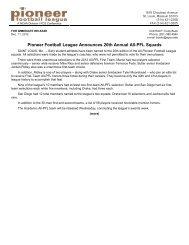 2012 All-PFL Teams (PDF) - Community