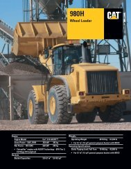 Specalog for 980H Wheel Loader, AEHQ5631-04