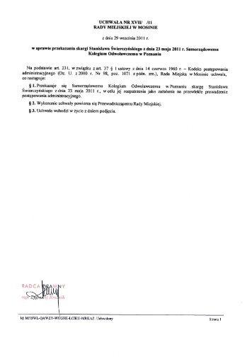 Projekt uchwały - skarga Stanisława Świerczyńskiego.PDF
