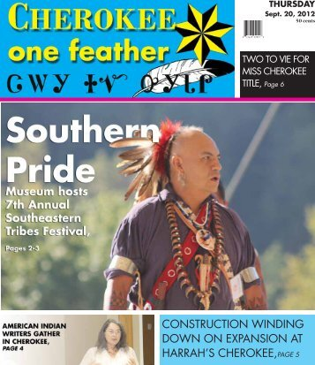 Sept. 20, 2012 - The Cherokee One Feather
