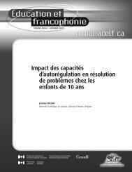 Impact des capacités d'autorégulation en résolution de ... - acelf